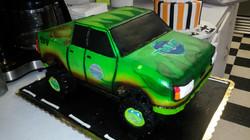 Ninja turtle truck cake