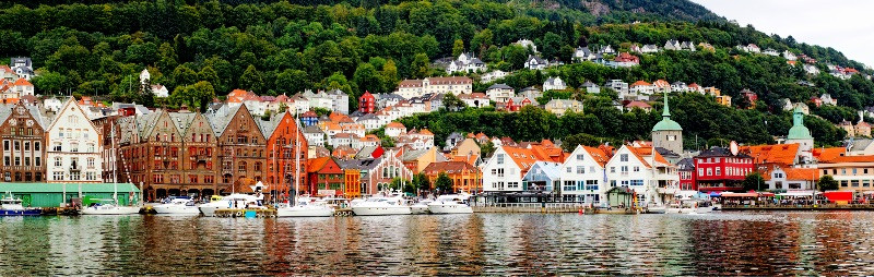 Incredible panoramic view of Bergen Harbor - All about Bergen, Norway