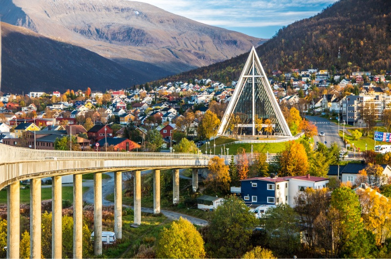 Spectacular view of Tromso, Norway - Top 10 tourist destinations Norway