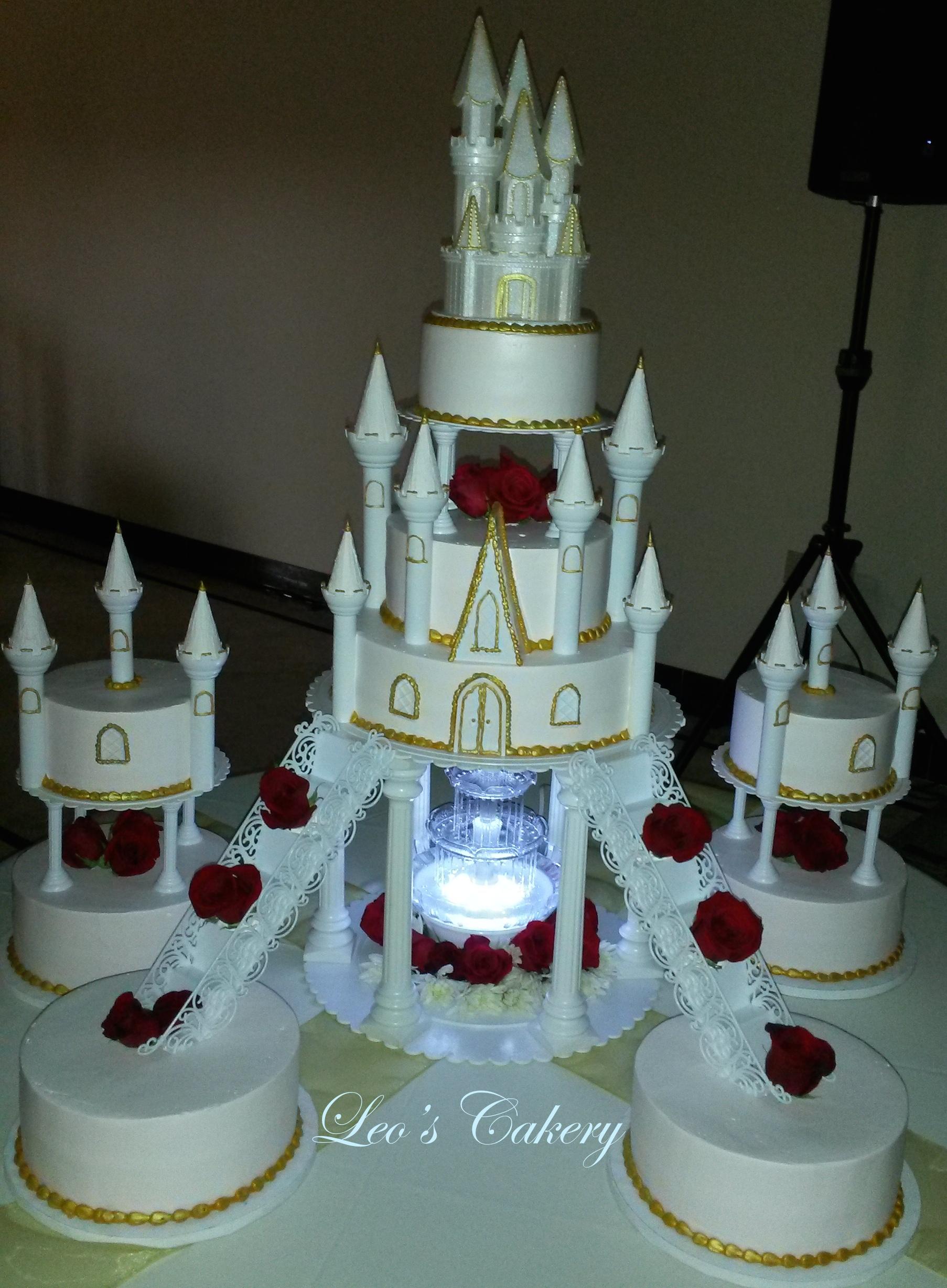 Castle sweet 16 cake