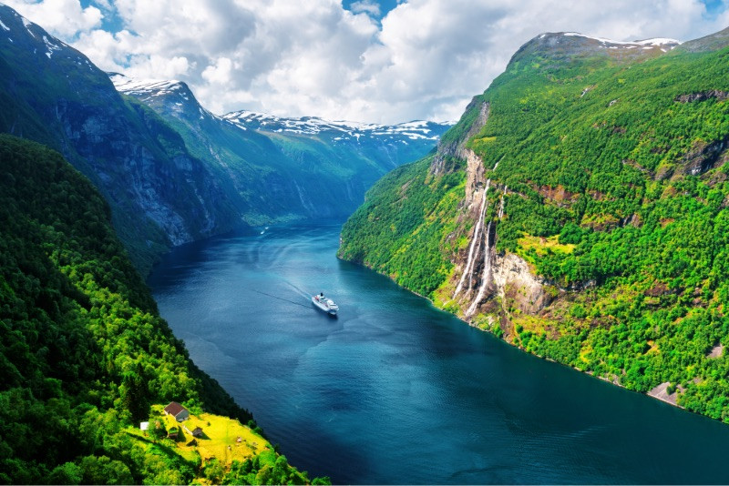 Outstanding view of western Norway fjord