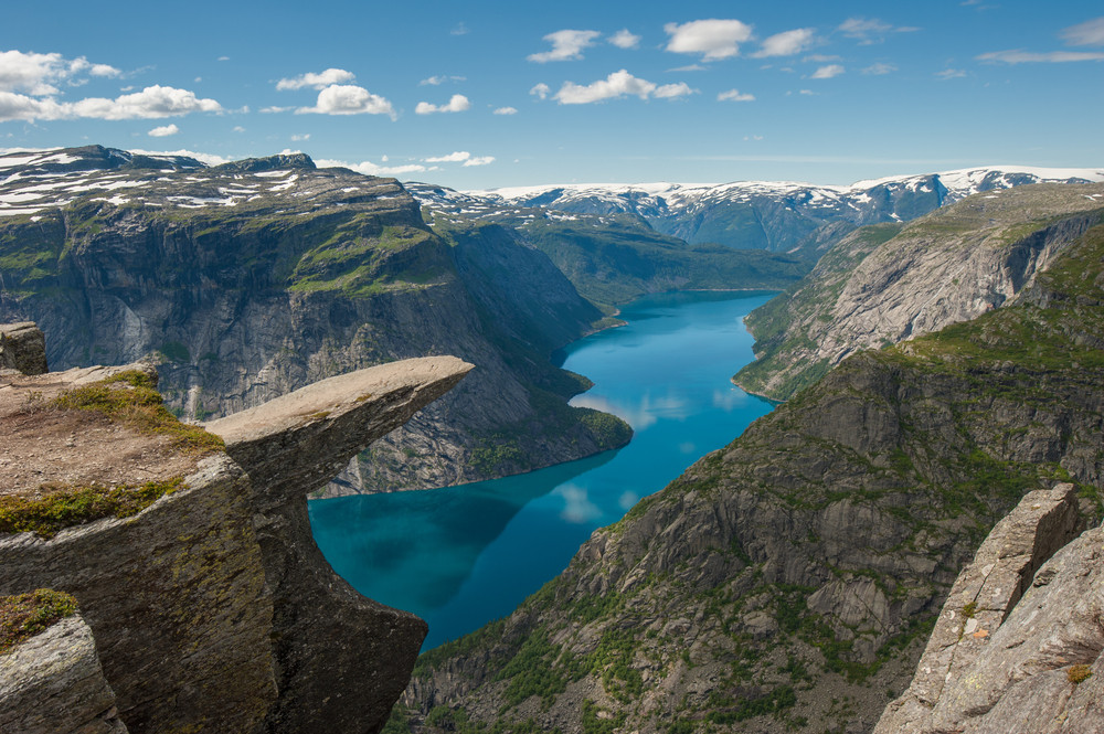 Trolltunga, a beautiful plateau above the Hardangerfjord - Norway Fjords: Our top five