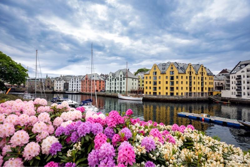 Art Nouveau buildings Alesund - top destinations Norway
