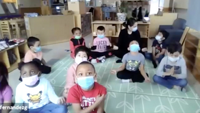 Hundreds of children and teachers learn meditation and yoga virtually