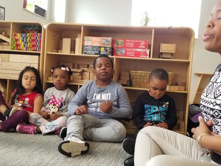 Meditation workshops for Pre-K students and teachers
