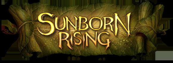 Sunborn Rising logo on a leaf scroll