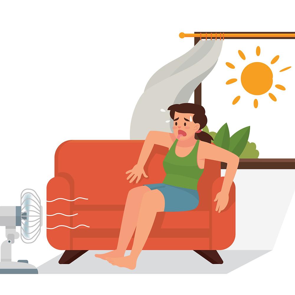 Overheating illustration