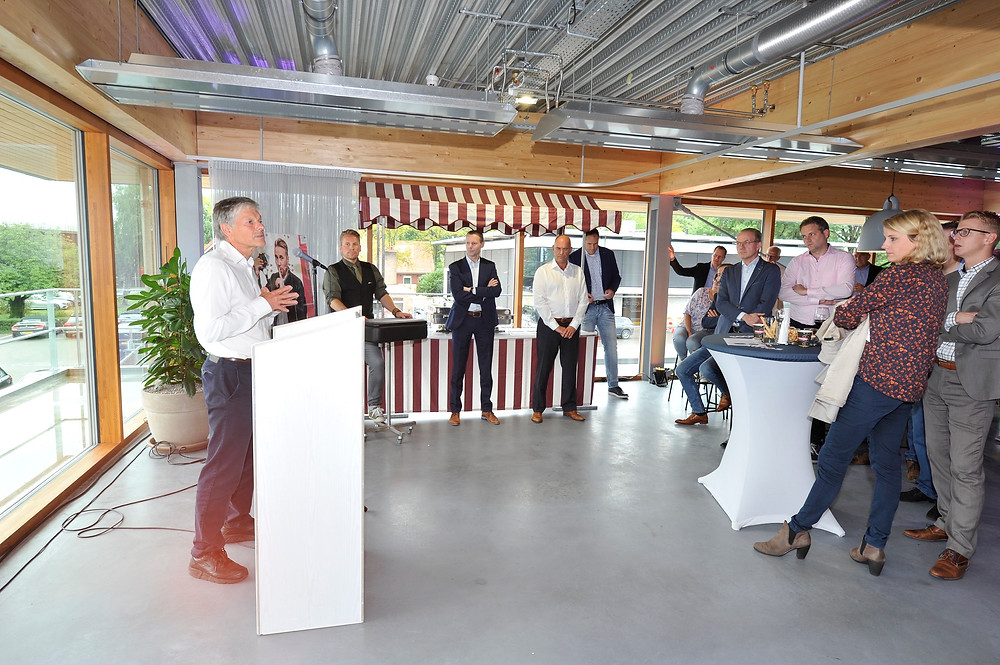 Official opening - giving a presentation