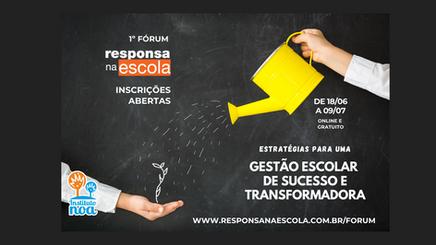 Fórum RESPONSA NA ESCOLA: veja toda a programação e inscreva-se!