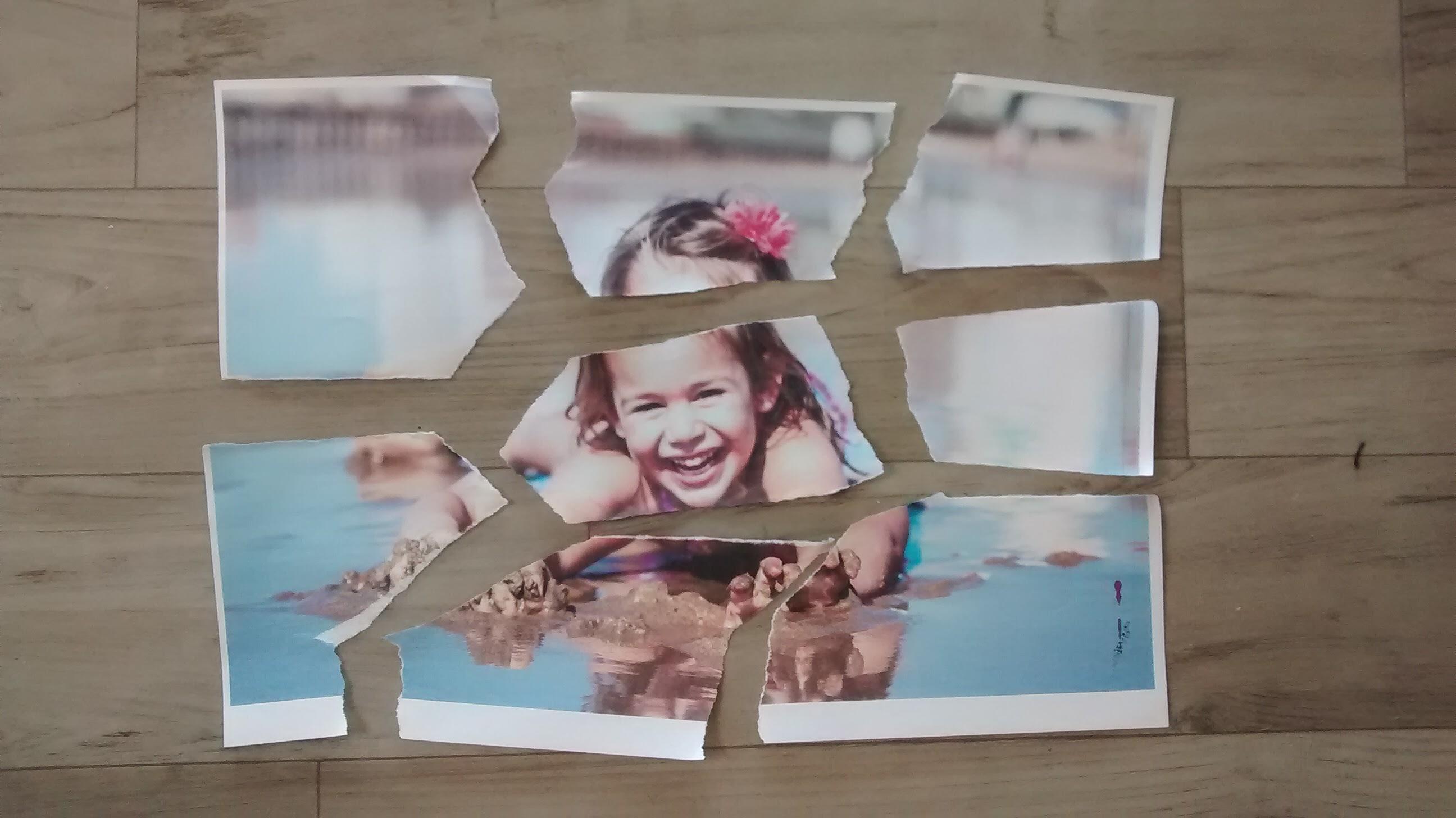 Quebra-cabeça com fotos