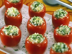 Tomates recheados à pizzaiolo