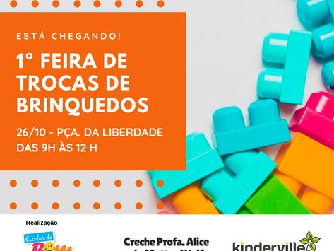 Indaiatuba terá 1ª Feira de Trocas de Brinquedos