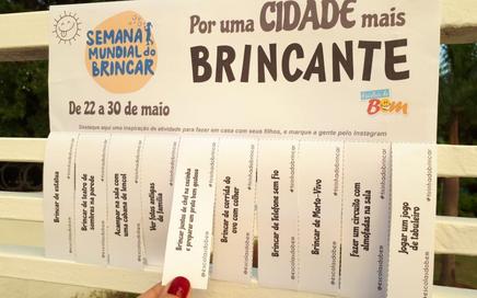 TIRINHAS DO BRINCAR: Conheça a ação das Escolas do Bem na Semana Mundial do Brincar