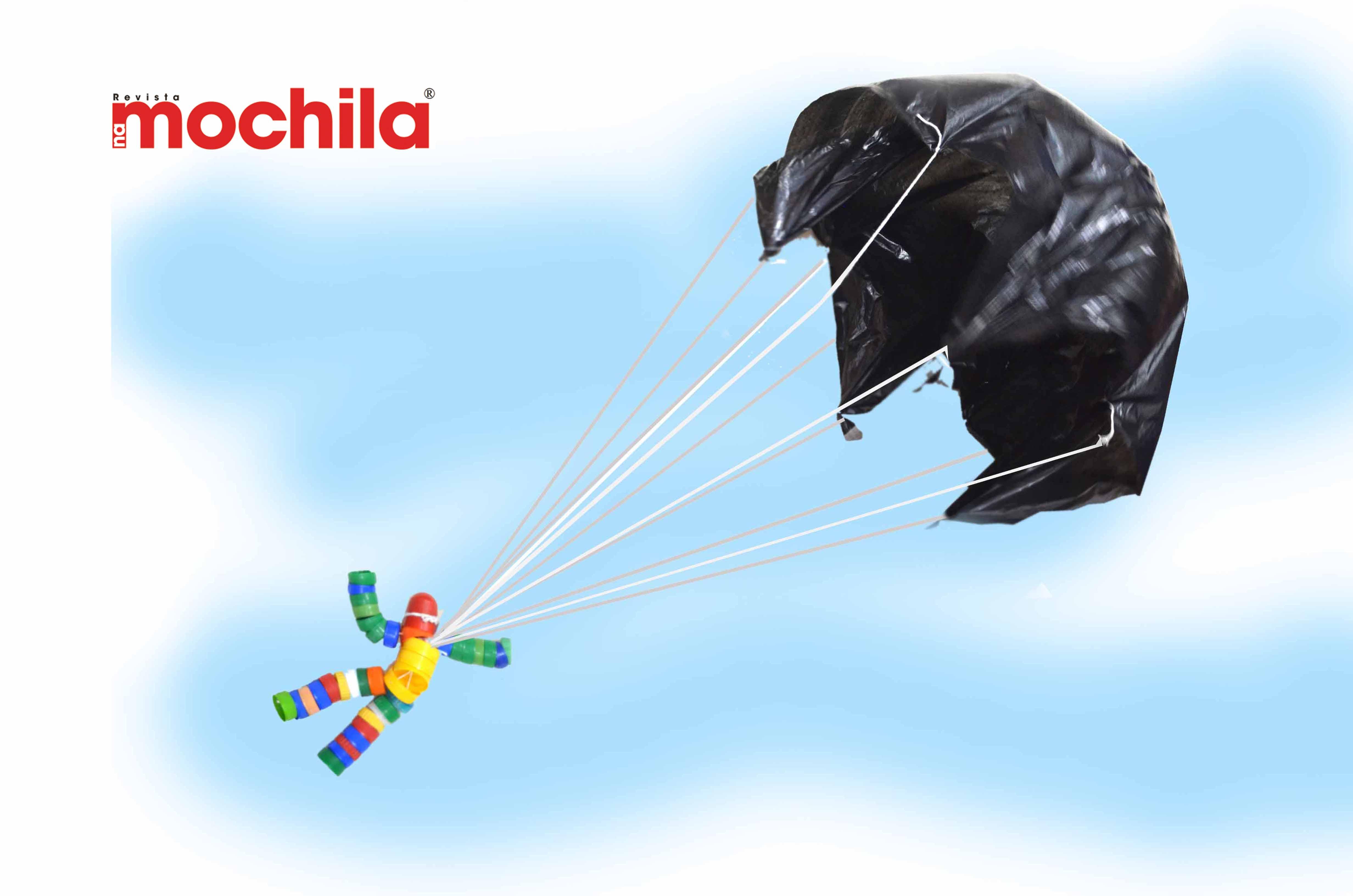 Paraquedista de tampinha