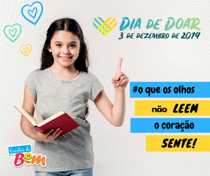 Dia de Doar: escolas desafiam internautas a ler poesias para crianças cegas