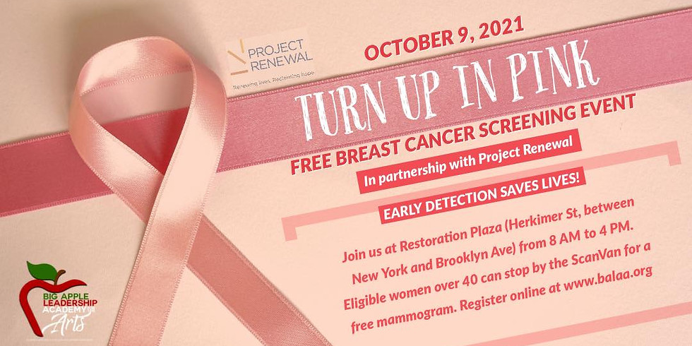 Turn Up In Pink Breast Cancer Screening