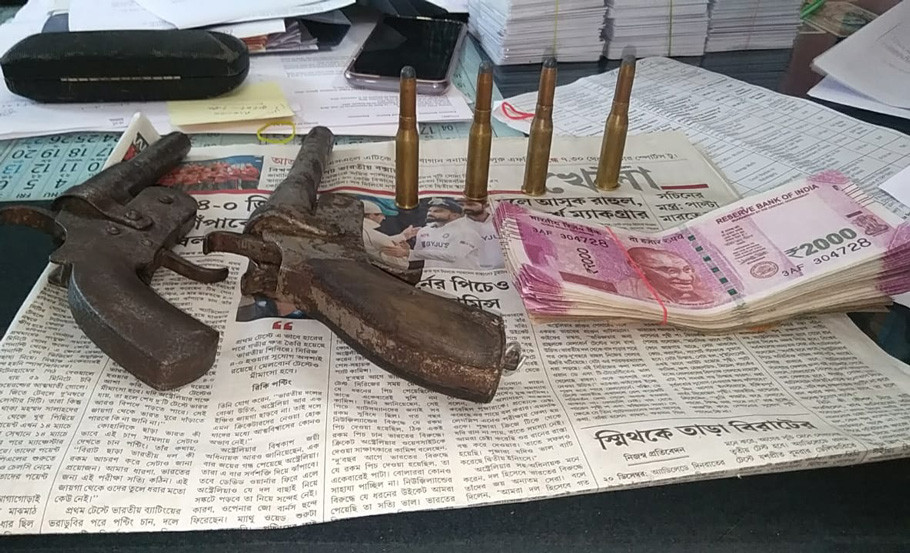 3 arrested with Fake Currency and Firearms