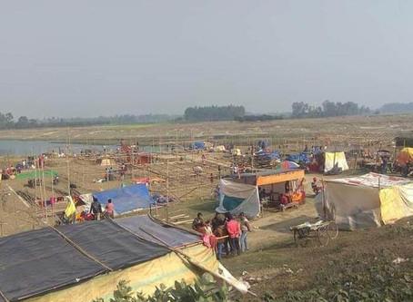 ঠাণ্ডা উপেক্ষা করে আশাপুর গঙ্গামেলায় ঢল পুণ্যার্থীদের
