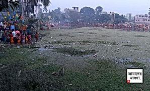 নিউ নর্ম্যালে ছট উদযাপন, জলাশয়ে কচুরিপানা নিয়ে ক্ষোভ চাঁচলে