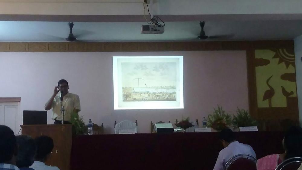 Aniket De delivers speech on Gambhira