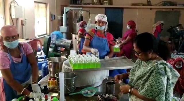 a Group produce 6000 litres sanitizer