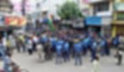 মিছিল রুখল পুলিশ, অবস্থান বিক্ষোভে সাংসদ