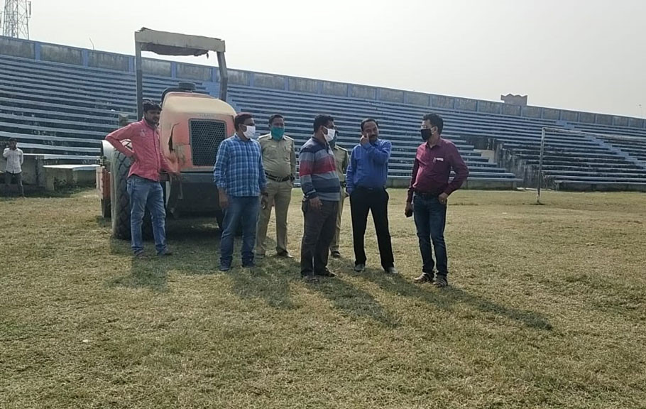 Work has started to decorate Chanchal Stadium