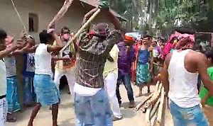 কুশিদায় বিজয় মিছিল, নরেন্দ্র মোদী সাজিয়ে এলাকা ঘোরাল তৃণমূল