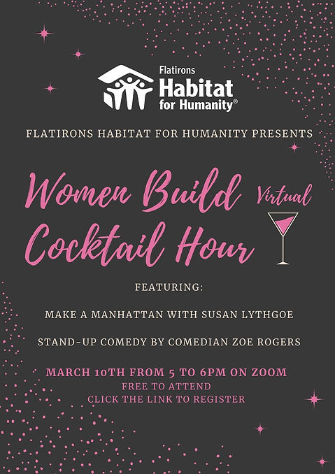 Pink and Black Cocktail Ladies Night Pos