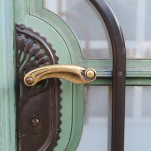 Nouveau door handle, Vienna Austria
