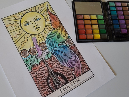 I won a coloring contest hosted by Blush Novelties and Vibrating Tarot!