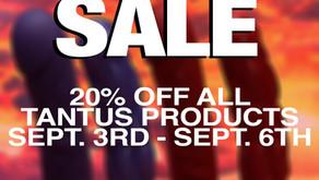 Tantus Sale 20% off ends Sept. 6th