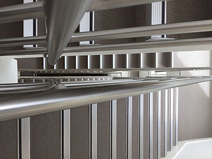 ALUMINIUM, STAIR NOSING WITH CONCEALED FIXING