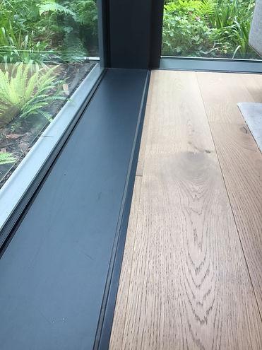 perimeter trim profiles in upvc, brass, stainless steel and aluminium