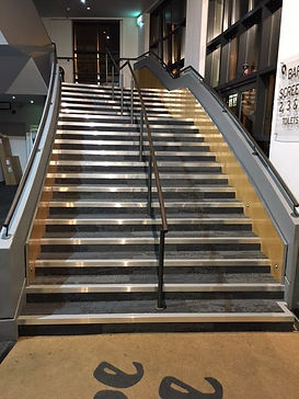 ALUMINIUM STAIR NOSINGS WITH PVC INFILL