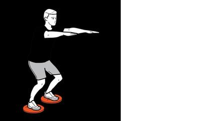Picioare - Genuflexiuni cu picioarele pe