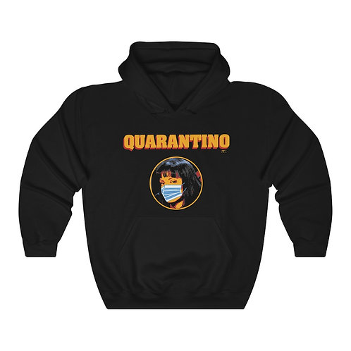 QUARANTINO - I SURVIVED CORONA Unisex Heavy Blend Hooded Sweatshirt