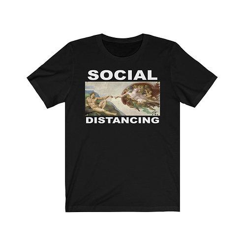 Social Distancing - I Survived Corona Unisex Jersey Short Sleeve Tee