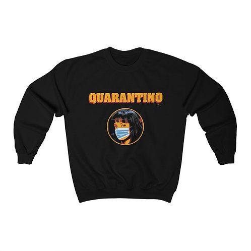 quarantino I survived corona sweatshirt- Unisex Heavy Blend Crewneck Sweatshirt