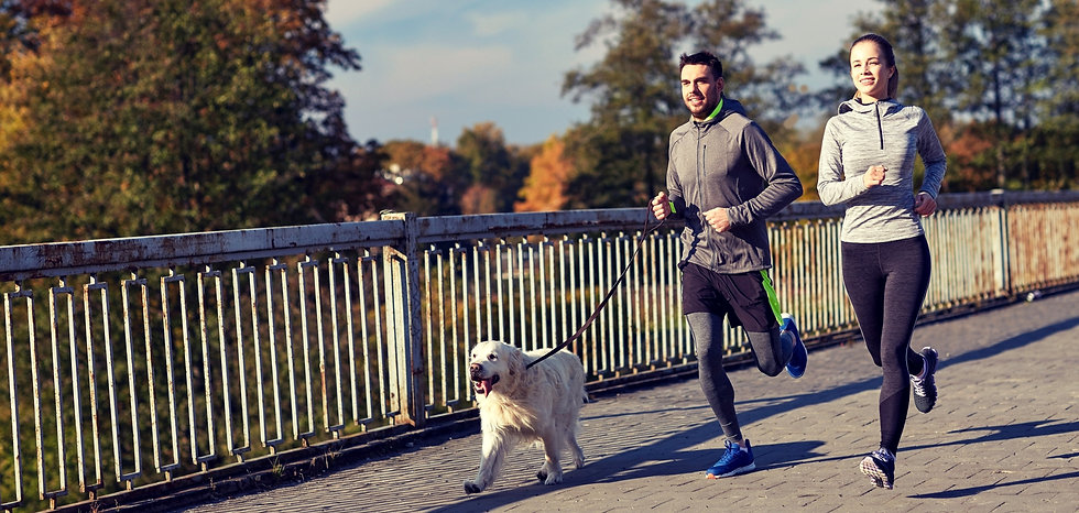 happy-couple-with-dog-running-outdoors-P