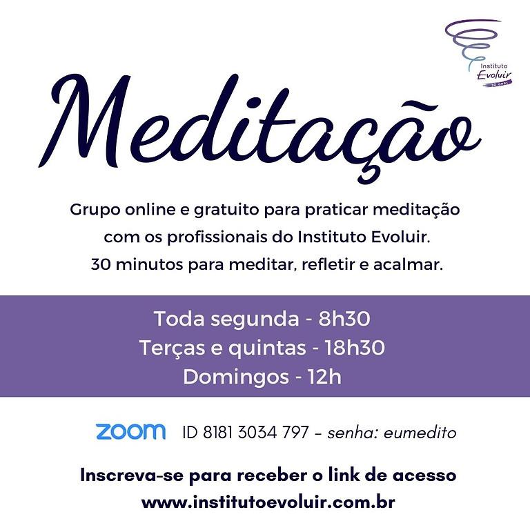 Meditação - Grupo online e gratuito