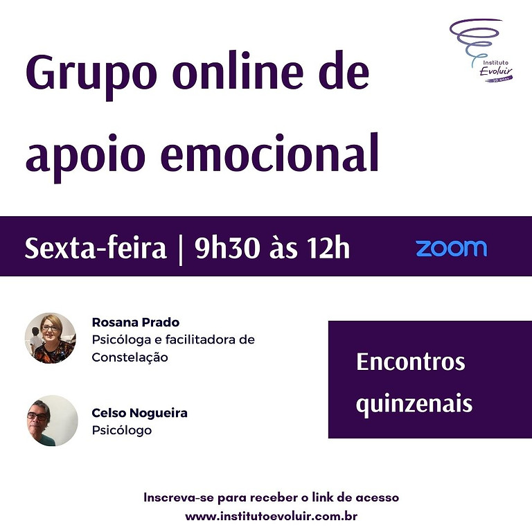 Grupo online de apoio emocional | Sexta 9h30 às 12h