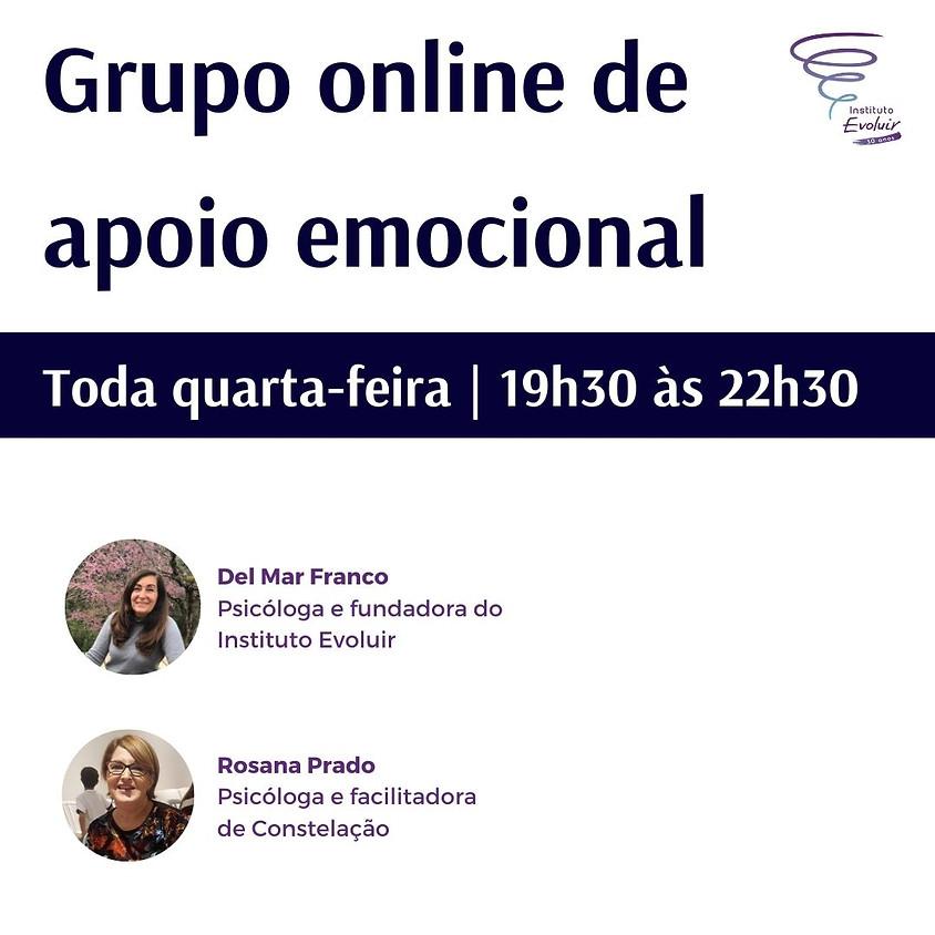 Grupo online de apoio emocional | Quarta 19h30 às 22h30