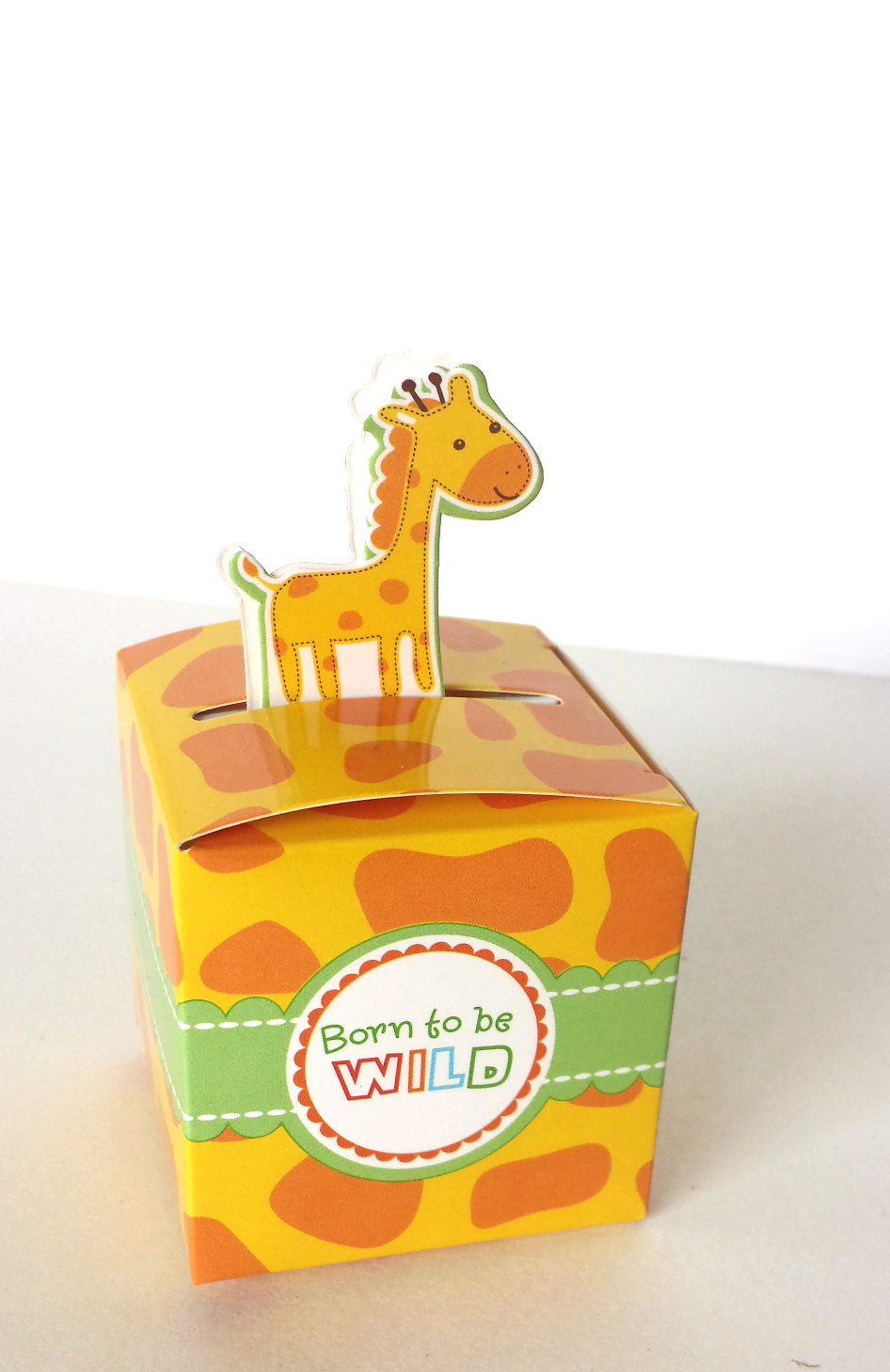 Giraffe Baby Shower Party Favor Box