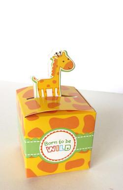 Giraffe Baby Shower Party Favor Box
