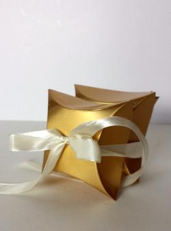 Gold Pillow box favors