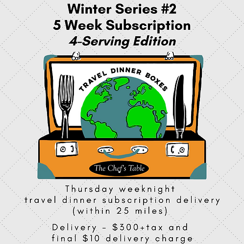 5 Week Delivery(within 25mi) Subscription: 4-Serving