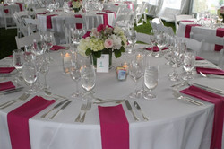 Pink & White Table Setting
