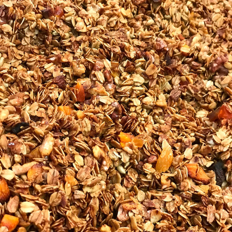 Maria's Sunshine Granola! A blend of granola, pepitas & golden raisins