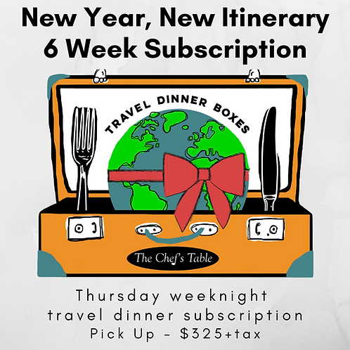 6 Week New Year Subscription-Pick Up